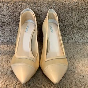 Giorgio Armani Tan Heels for women with Mesh